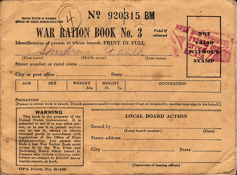File:WWII USA Ration Book 3 Front.jpg