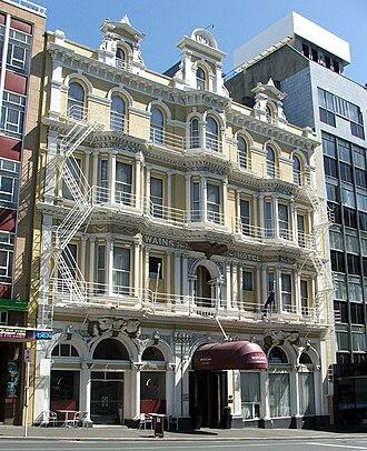 Princes Street, Dunedin - Wain's Hotel building, in the Exchange