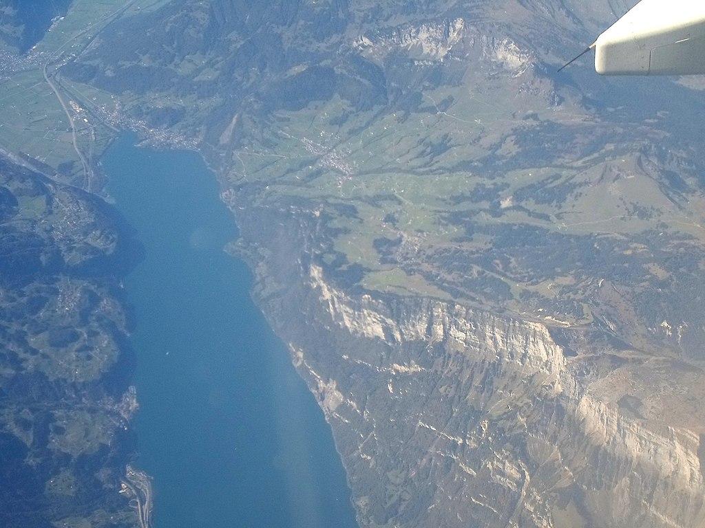 Walensee-Weesen-Switzerland-Ostschweiz-StGallen-September-2014-aerial-Luftbild
