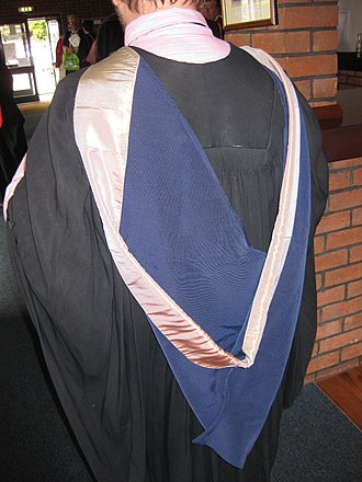 Academic dress of the University of Wales - The Wales BMus hood.
