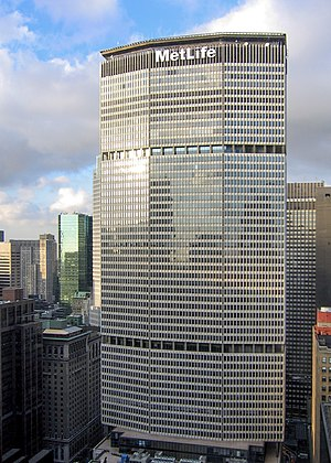 MetLife - MetLife building at 200 Park Ave in New York City. The building is no longer owned by MetLife