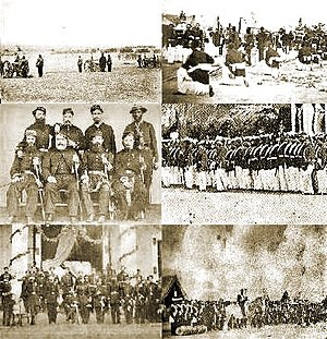 Paraguayan War - Image: War of the Triple Alliance composite