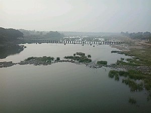 Pranhita River -  Wardha river at Pulgaon