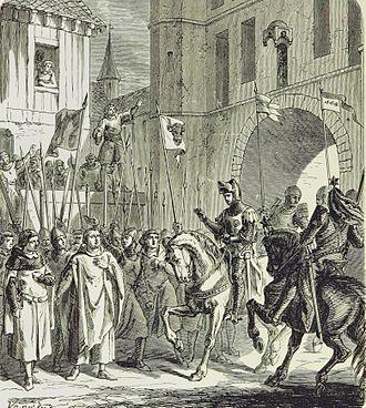 William of Jülich - Warm reception in Bruges of William of Jülich (May 1302)
