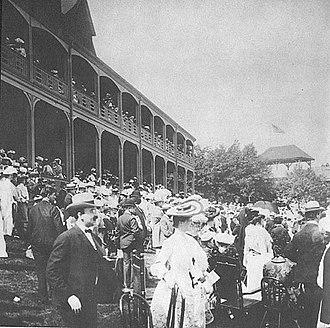 Washington Park Race Track - Grandstands at original track, c. 1900