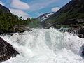 Waterfall at Hotel Videseter - Stryn (1543516281).jpg