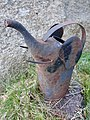 "Watering can (""vannkanne hagesprøyte"") Small, old, rusty metal, shaped as an elephant's head Tjøme, Norway 2020-04-26 7119.jpg"