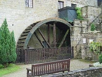 Darley, North Yorkshire - Image: Waterwheel, Darley Head