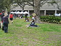 Wednesday at Square NOLA Mch 2010 lawn dogs phone.JPG