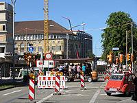 Werthmannstraße in Freiburg nach Sperrung des Platzes der Universität (2).jpg