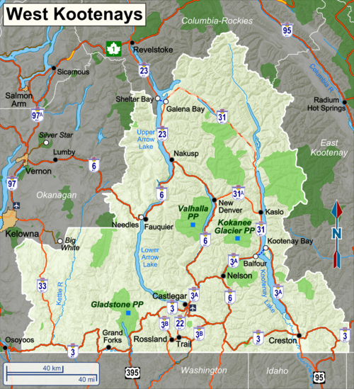 West Kootenays  Travel guide at Wikivoyage