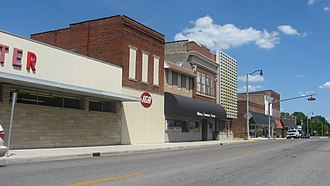 Oblong, Illinois - West Main Street downtown