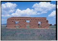 West facade - Fort Union, Clerk's Quarters, State Highway No. 161, Watrous, Mora County, NM HABS NM-164-U-4 (CT).tif