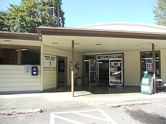 Westfir, Oregon - The store and post office at Westfir