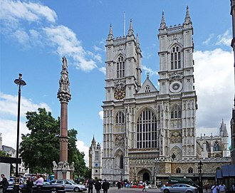 Burial sites of European monarchs and consorts - Image: Westminster Abbey and War Memorial, London geograph.org.uk 1407001