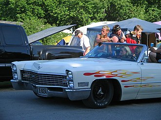 Power Big Meet - Image: White Cadillac with flames at Power Big Meet 2005