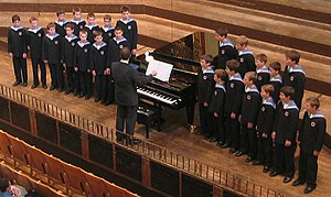 Vienna Boys' Choir - The Vienna Boys' Choir during a 2003 concert at the Wiener Musikverein