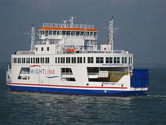 Wightlink - Wight Light, the first of the new ferries launched in 2008 for the Lymington to Yarmouth route