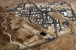 Aerial view of Mishor Adumim industrial park