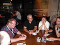 Wikimedians at a restaurant in Haifa 1.JPG