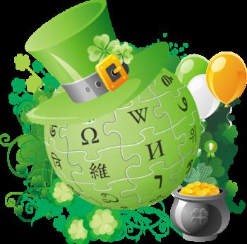 English: Wikipedia Saint Patrick's Day