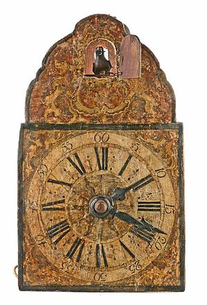 Cuckoo clock - Exemplary by Johannes Wildi, Eisenbach, ca. 1780. (Deutsches Uhrenmuseum, Inv. 2008-024)