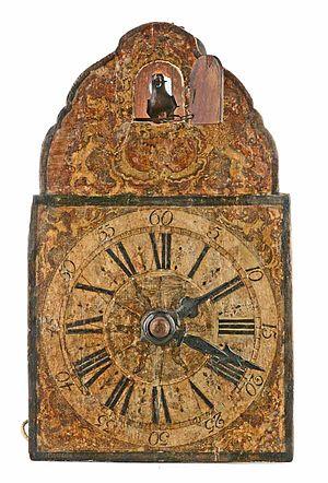 Cuckoo clock - Exemplary by Johannes Wildi, Eisenbach, ca. 1780. (Deutsches Uhrenmuseum, Inv. 2008-024)