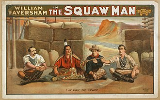 The Squaw Man (play) - Poster for the original production of The Squaw Man (1905)