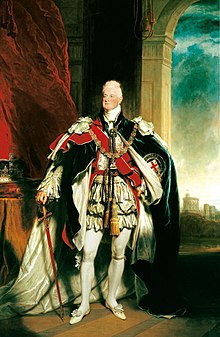 William IV, dilukis oleh Sir Martin Archer Shee, 1833