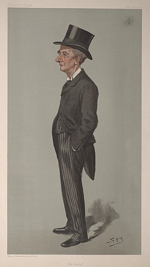 "Sir William Anson, 3rd Baronet - ""All Souls"". Caricature by Spy published in Vanity Fair in 1901."