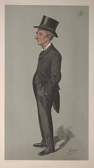 """Sir William Anson, 3rd Baronet - """"All Souls"""". Caricature by Spy published in Vanity Fair in 1901."""