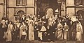 William Winter, author and dramatic critic, and the actors and actresses who took part in the Shakespearean masque given at the Century Theatre in Mr. Winter's honor. 1916.jpg