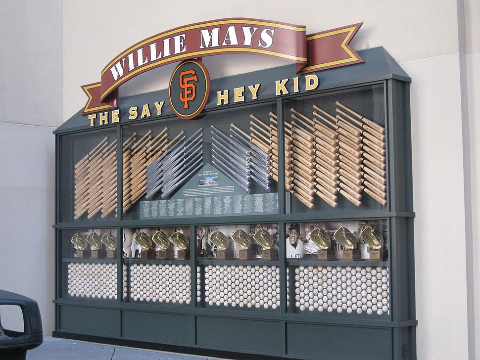 Willie Mays tribute display, AT&T Park