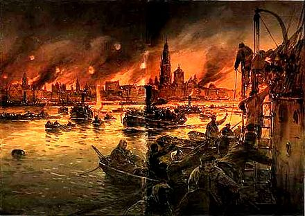 Results of German bombardment of Antwerp, October 1914 Willy Stower - Antwerpen 1914.JPG