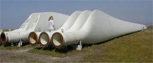 Palas de un aerogenerador.