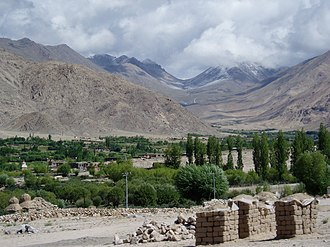 Wind gap - Glacially-carved wind gap in Karu Valley, Ladakh, NW Indian Himalaya