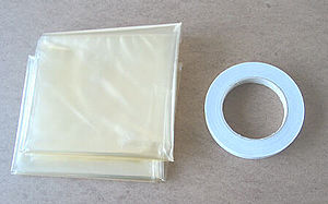English: Typical window insulation kit
