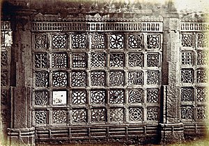 Dastur Khan's Mosque - Perforated stone windows of the mosque
