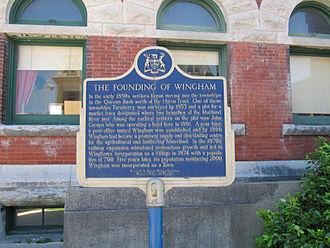 Wingham, Ontario - Founding plaque