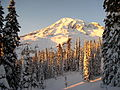 Winter Sunset on Mount Rainier (6997785431).jpg