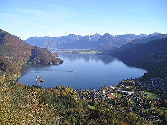 Salzkammergut - Wolfgangsee with St. Gilgen in the foreground