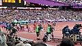 Women's 100 metres semi-final heat 1 (7738549238).jpg