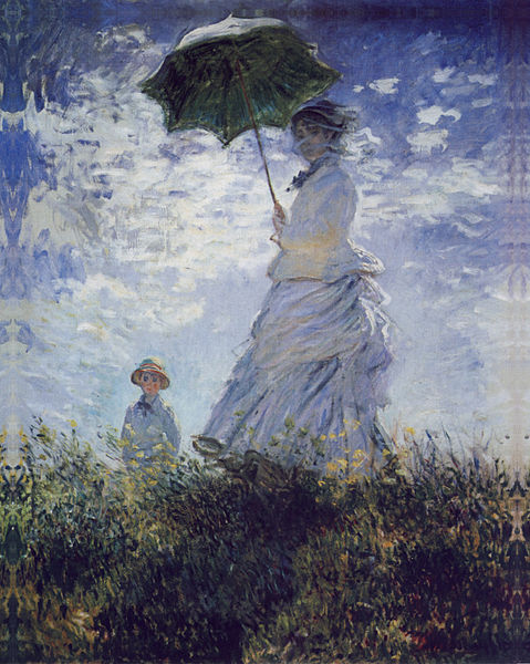 Woman with an Umbrella turned towards the right by Claude Monet