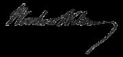 Woodrow wilson signature