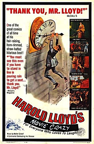 Harold Lloyd - Movie poster for the Harold Lloyd film World of Comedy (1962)