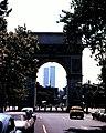 World trade center from washsquare 1975.jpg