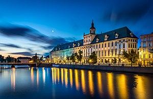 Wrocław: Wroclaw - Uniwersytet Wroclawski o poranku
