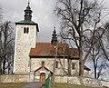 Wysocice, church front.JPG