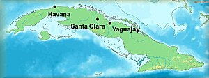 Battle of Yaguajay - Map of Cuba