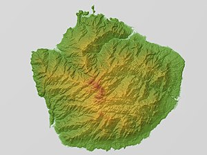 Yakushima - Relief Map